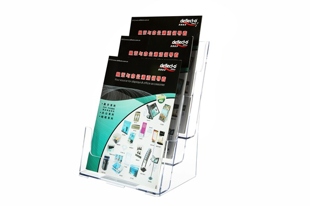 三层资料架有机玻璃制品77301