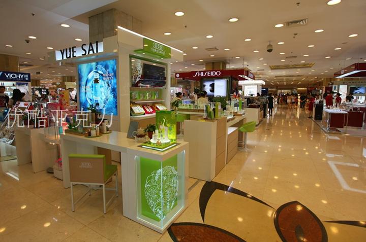 有机玻璃展架——化妆品专卖必备